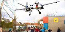 Drones boven het schoolplein